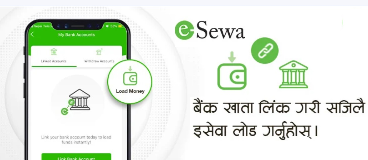 how to link bank account to eSewa load money