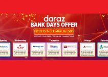 Three More Banks Included On Daraz 15% Off On Online Payment