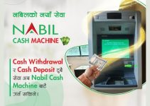 Nabil Cash Machine: Allows Both Cash Withdrawal And Deposit