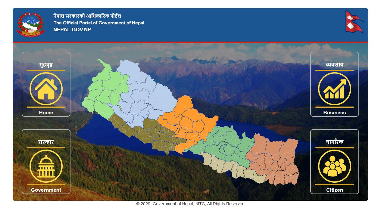 Nepali government websites maintain similar structure