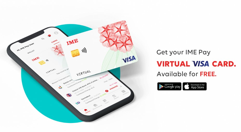 how to get a virtual visa card with IME Pay